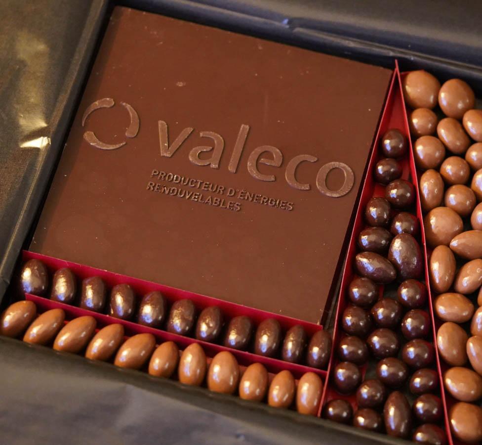 Boîte de chocolat offerte par le Groupe Valeco